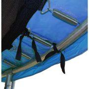 Capetan® 244 cm Durchm. blaue PVC Trampolin Federabdeckung mit 20 mm dicker Polsterung