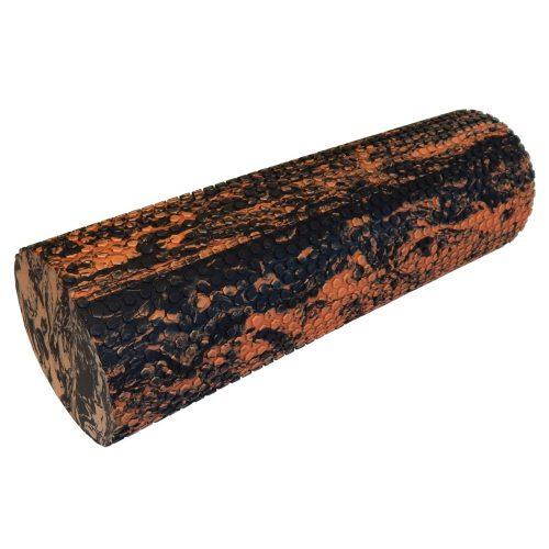 Capetan® Professional Line 15x45 cm orangen-schwarze SMR Massagerolle aus extra hartem Material mit einer Oberfläche mit Massagepunkten