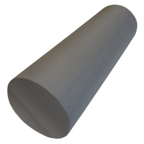 Capetan® SMR Rolle standardmäßiger Härte in 15x45 cm Größe in grauer Farbe mit ebener Oberfläche