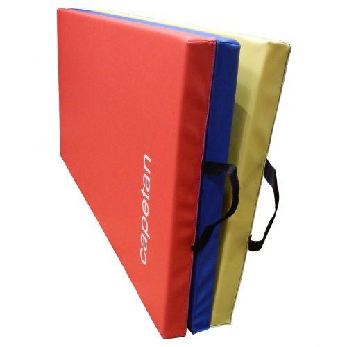 Capetan® Premium Line in 3 Teile faltbare 120x180x5 cm Turnmatte mit PVC Bezug