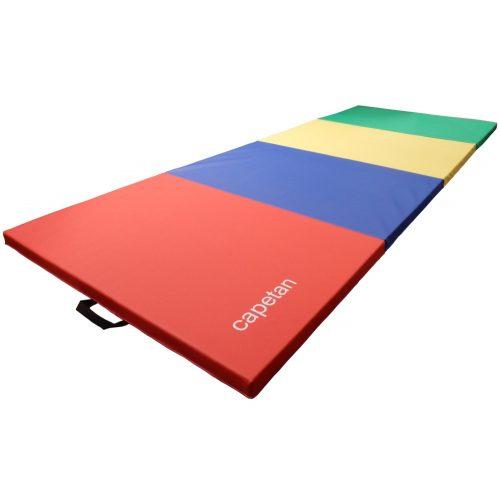 Capetan® Premium Line in 4 Teile faltbare 120x300x5 cm Turnmatte mit PVC Bezug mit Tragegriffen