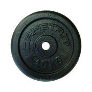 Capetan® 10 kg Hantelscheibe aus Stahl mit Hammerschlaglackierung, mit 31 mm Lochdurchmesser