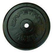 Capetan® 15 kg Hantelscheibe aus Stahl mit Hammerschlaglackierung, mit 31 mm Lochdurchmesser