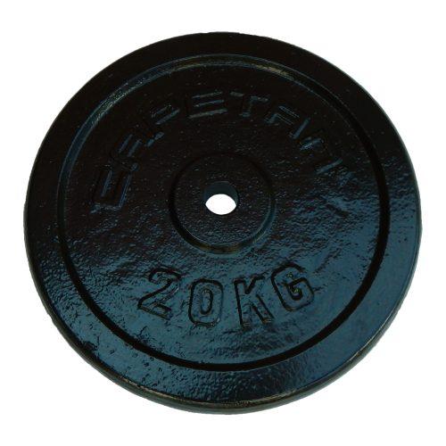 Capetan® 20 kg Hantelscheibe aus Stahl mit Hammerschlaglackierung, mit 31 mm Lochdurchmesser