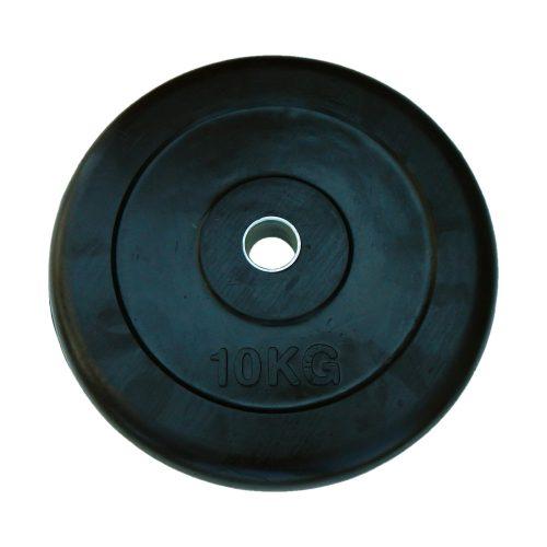 Capetan® 10 kg gummierte standardmäßige Hantelscheibe von 31 mm Durchm. mit einem Stahlring in der Mitte – gummiüberzogene Hantelscheibe