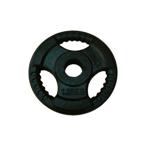 Capetan® Tri Grip gummierte ergonomische 1,25 kg Hantelscheibe mit 31 mm Lochdurchmesser