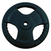 Capetan® Tri Grip gummierte ergonomische 20 kg Hantelscheibe mit 31 mm Lochdurchmesser