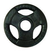 Capetan® Professional Line Olympic Tri Grip gummiüberzogene 2,5 kg Hantelgewicht aus Stahl mit 51 mm Lochdurchmesser und Griffen