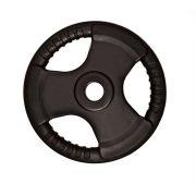 Capetan® Professional Line Olympic Tri Grip gummiüberzogene 10 kg Hantelgewicht aus Stahl mit 51 mm Lochdurchmesser und Griffen