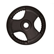 Capetan® Professional Line Olympic Tri Grip gummiüberzogene 20 kg Hantelgewicht aus Stahl mit 51 mm Lochdurchmesser und Griffen