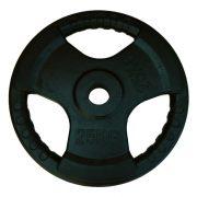Capetan® Professional Line Olympic Tri Grip gummiüberzogene 25 kg Hantelgewicht aus Stahl mit 51 mm Lochdurchmesser und Griffen