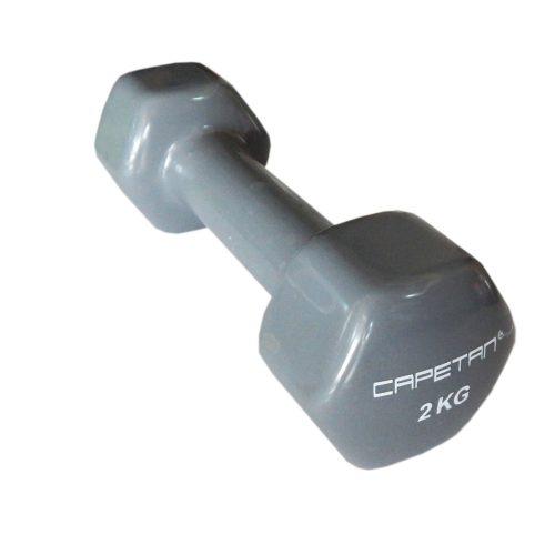 Capetan® Professional Line 2x2 kg ein Paar mit weichem Vinyl umhüllte Einhandhanteln aus Stahl