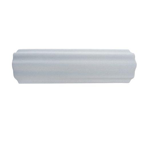 Capetan® 15 cm Durchm. 45 cm lange SMR Rolle aus EVAC Schaumstoff, mit großen Wellen gestaltete Oberfläche – in grauer Farbe