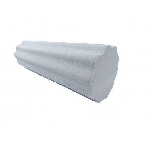 Capetan® 15 cm Durchm. 60 cm lange SMR Rolle aus EVAC Schaumstoff, mit großen Wellen gestaltete Oberfläche, intensive Wirkung – in grauer Farbe