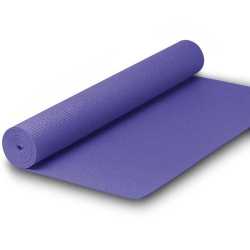 Capetan® PVC Jogamatte 173 x 61 x 0,4 cm in LILA Farbe – Fitnessmatte – Yogamatte