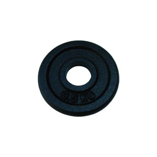 Capetan® 0,5 kg 31 mm Durchm. Hantelscheibe aus Stahl mit schwarz-seidenem Bezug