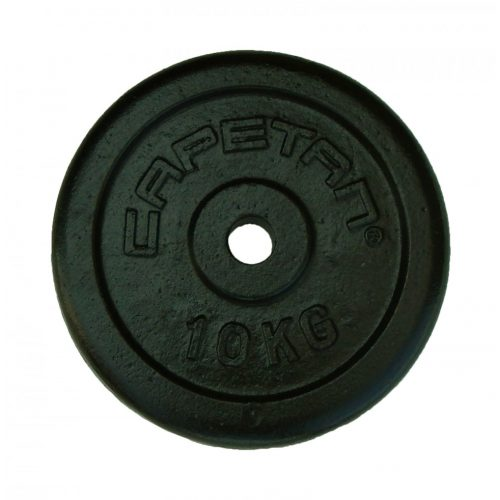 Capetan® 10 kg 31 mm Durchm. Hantelscheibe aus Stahl mit schwarz-seidenem Bezug
