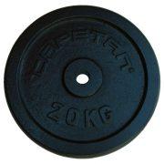 Capetan® 20 kg 31 mm Durchm. Hantelscheibe aus Stahl mit schwarz-seidenem Bezug