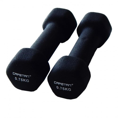 Capetan® Professional Line 2x0,75 kg ein Paar Einhandhanteln mit Neoprenüberzug – Neoprenhanteln