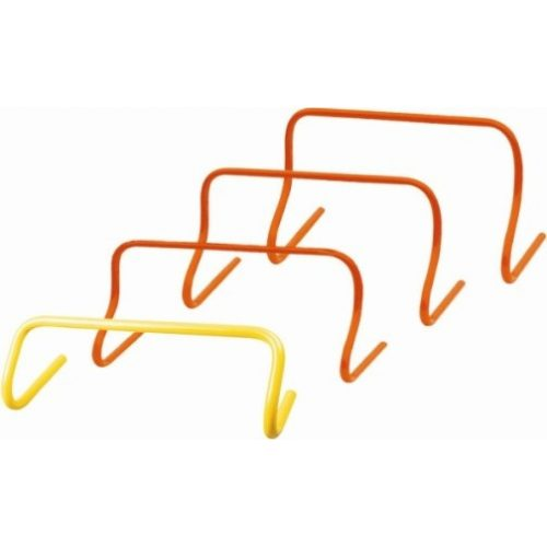 Capetan® Minihürdenset mit 15 cm fixer Höhe: 6-er Set, orangene Farbe