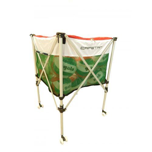 Capetan® Ballwagen, zusammenklappbar, rollbar, mit Deckel abschließbar