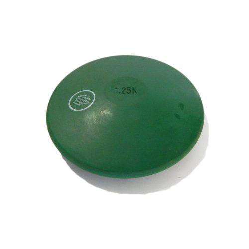 Capetan® Trainingsdiskus aus Gummi 1,25 kg – grüne Farbe; hinterlässt keine dunkle Spur auf dem Fußboden