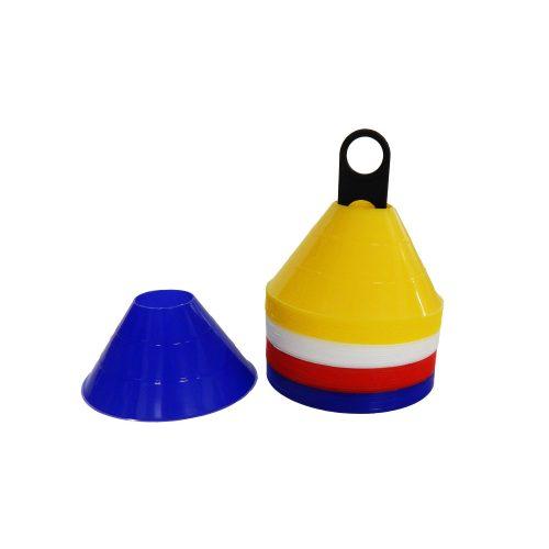 Capetan® MiniDome 6,5x14 cm Markierungshauben-Set ohne Einkerbungen für Stangen – 40-er Set Markierungsteller mit einem Plastikhalter
