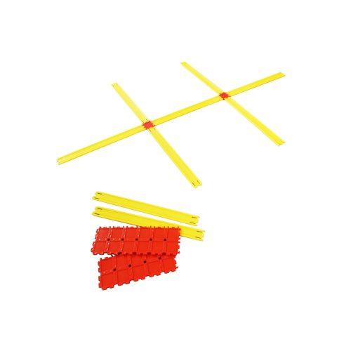 """""""Agility""""-Leiter – Set von 24 Teilen für beliebig formbare Gestalte (90 Einzelteile mit 24 Fügelementen)"""